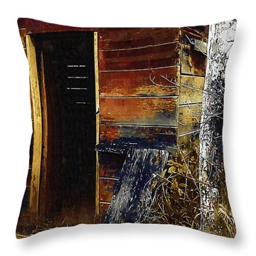The Killing Shed Throw Pillow by RC DeWinter