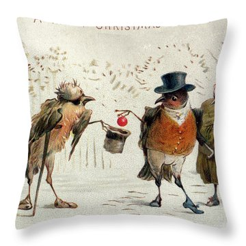 The Kindly Robin Throw Pillow