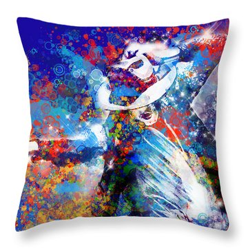 The King 3 Throw Pillow by Bekim Art