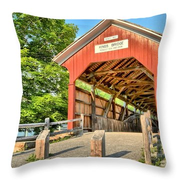 The King Covered Bridge Throw Pillow