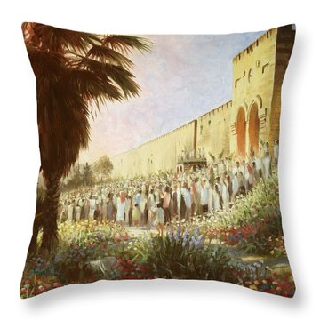 The King Is Coming  Jerusalem Throw Pillow