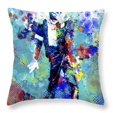 The King Throw Pillow by Bekim Art