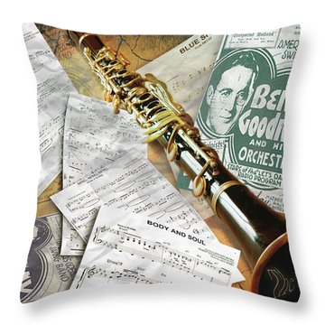 The King Of Swing Throw Pillow