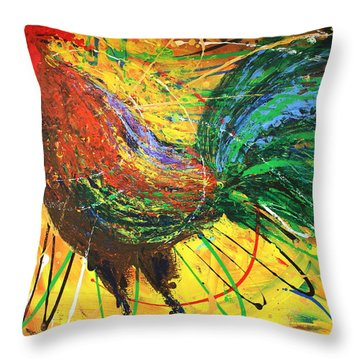 The King Rooster Throw Pillow