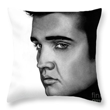 The King Throw Pillow by Sheryl Unwin