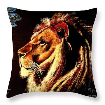 the King Throw Pillow by Viktor Lazarev