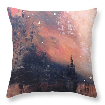 The Kingdom Under The Mountain Throw Pillow by Kume Bryant