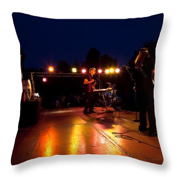 The Kingpins Rock Pullman Throw Pillow by David Patterson