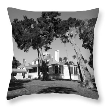 The Kingsley Plantation Throw Pillow by Lynn Palmer
