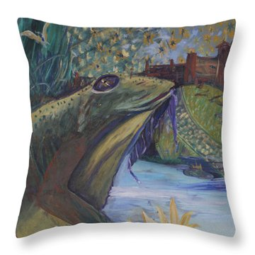 To Kiss A Frog Throw Pillow