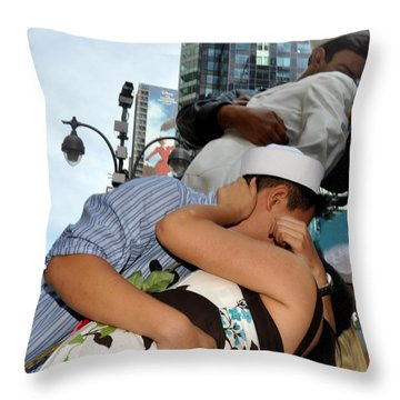 The Kiss Throw Pillow by Diane Lent