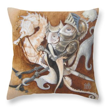 The Knight Tale Throw Pillow by Marina Gnetetsky