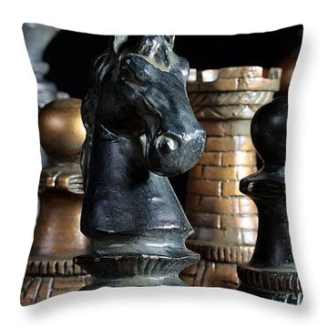 The Knights Challenge Throw Pillow by Joe Kozlowski
