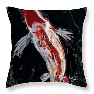 The Koi Throw Pillow