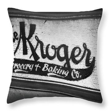 The Kroger Sign Throw Pillow