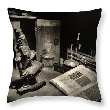 The Laboratory Throw Pillow