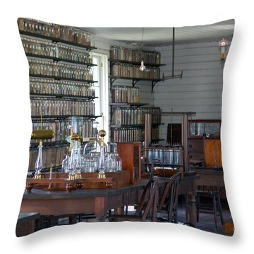 Throw Pillow featuring the photograph The Laboratory by Patrick Shupert