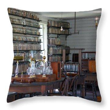 The Laboratory Throw Pillow