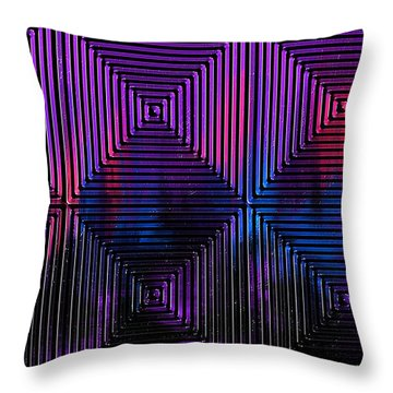The Labyrinth Throw Pillow by Roz Abellera Art