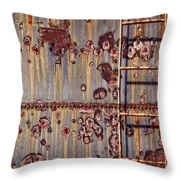 The Ladder Throw Pillow by Marcia Colelli