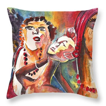 The Ladies Of Loket In The Czech Republic Throw Pillow by Miki De Goodaboom
