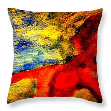 The Lady In Red Is Drifting Away Again  Throw Pillow