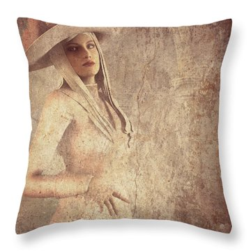 Throw Pillow featuring the digital art The Lady by Riana Van Staden
