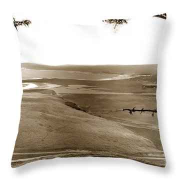 The Lagoon At The Mouth Of The Carmel River  From Fish Ranch California 1905 Throw Pillow