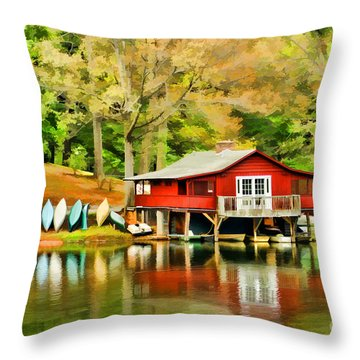 The Lake House Throw Pillow