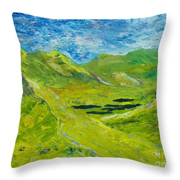 The Lakes Of Killarney  Original Sold Throw Pillow by Conor Murphy