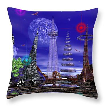 Throw Pillow featuring the photograph The Lakes Of Zorg by Mark Blauhoefer