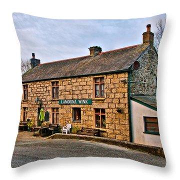 The Lamorna Wink Throw Pillow