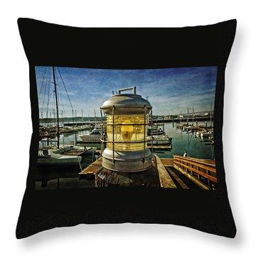 The Lamp At Embarcadero  Throw Pillow