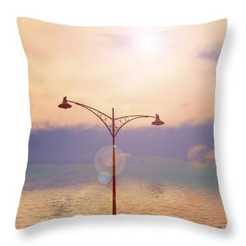 The Lampost Throw Pillow