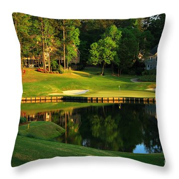 Golf At The Landing #3 In Reynolds Plantation On Lake Oconee Ga Throw Pillow