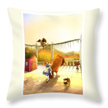 The Landing On The Balcony  Throw Pillow