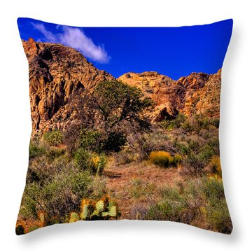 The Landscape Of Red Rock Canyon Nevada Throw Pillow