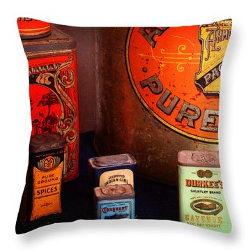 The Larder Throw Pillow by Timothy Bulone