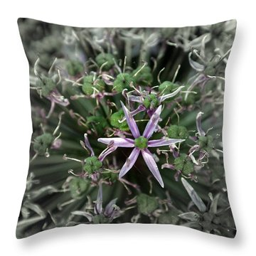 Throw Pillow featuring the photograph The Last Blossom by Henry Kowalski