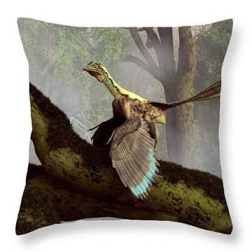 The Last Dinosaur Throw Pillow