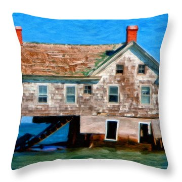 The Last House On Holland Island Throw Pillow