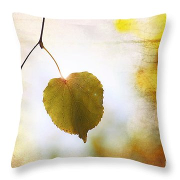 The Last Leaf Throw Pillow by Nishanth Gopinathan
