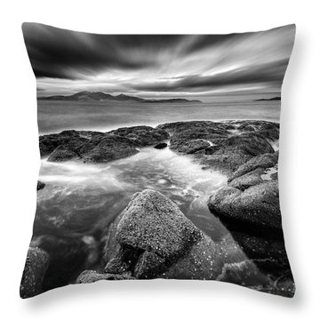 The Last Light Of The Night Throw Pillow by John Farnan