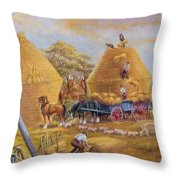 The Last Load Throw Pillow by Dudley Pout