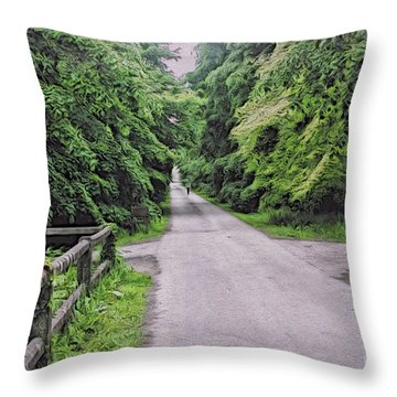 The Last Path Throw Pillow