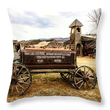 The Last Ride Throw Pillow by Jon Burch Photography