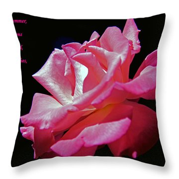 The Last Rose Of Summer Throw Pillow by Andy Lawless
