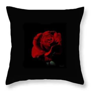 The Last Rose Of  Summer... Throw Pillow by Marija Djedovic