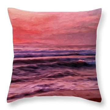 The Last Set Throw Pillow by Michael Pickett