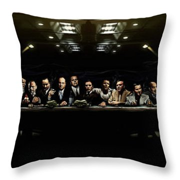 The Last Sit Down Throw Pillow